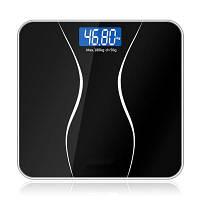 Весы для ванной комнаты Стеклянные смарт-бытовые электронные цифровые весы для весов Bariatric LCD Display 180KG / 50G Чёрный