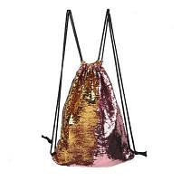 Модный блестящий рюкзак спортивная сумка для пеших прогулок покупок спорта Розовый