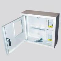 Шкаф монтажный распределительный наружной установки с замком под 1Ф электронный счетчик Лоза ШМР-1Ф-э-4Н