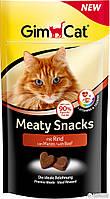 Витаминизированное лакомство для котов и кошек GimCat Meaty Snacks со вкусом говядины, 35 г
