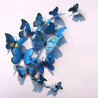 12Pcs / Set Красочные белые бабочки наклейки Домашний декор 3D бабочки наклейки для детской комнаты 8 x 8 x 3cм