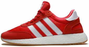Мужские кроссовки Adidas Iniki Runner Boost Red (люкс копия)