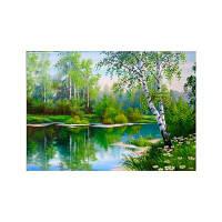 Naiyue 9676 Ландшафтная печать с бриллиантами Зелёный цвет