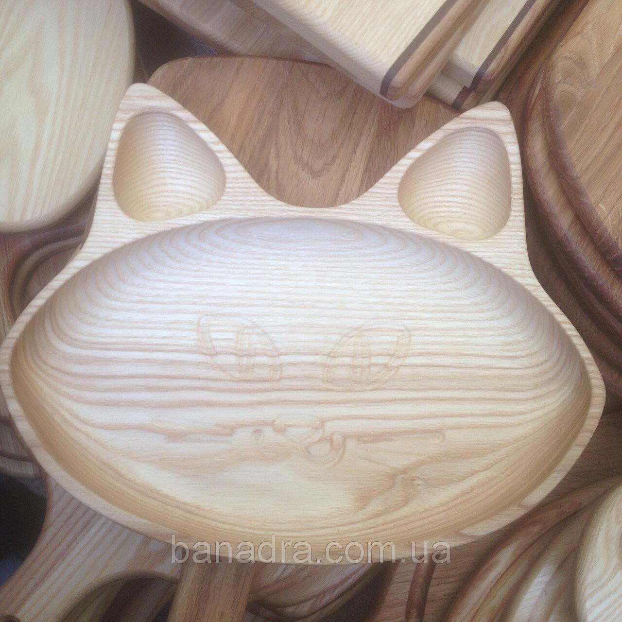 Тарелка детская «Том» из дерева