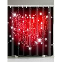 День Святого Валентина Лабиринт Печатная водостойкая занавеска для душа W59 дюймов * L71 дюймов
