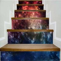 Красочные фэнтезийные звезды Красивый узорный стикер настенной декорации LTT021 18см x 100см x 6 шт.