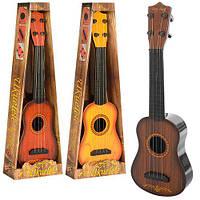 Гитара 0381-1-2-3 (48шт) 40cм, струны 4шт, 3цвета, в кор-ке, 45-16-5см
