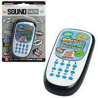Телефон 999-408 (72шт) 10,5см, звук, на бат(табл), на листе, 12-18-2,5см