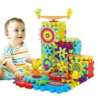 81 шт Электрические шестерни 3D головоломки комплекты для строительства Пластиковые кирпичи Обучающие игрушки для детей Детский подарок разные цвета