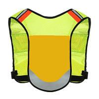CTSmart регулируемый светоотражающий жилет Жёлтый