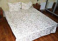 Полуторный комплект постельного белья «Золотистые вензеля на бежевом фоне»