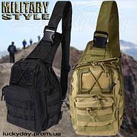 """Универсальная сумка-рюкзак """"military style"""" хаки (светлый)"""