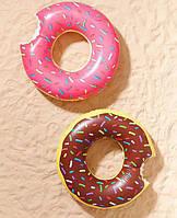 Надувной круг 90 см розовый Надкушенный Пончик