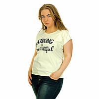 Женская футболка с принтом Турция салатовая Strong and Beauty