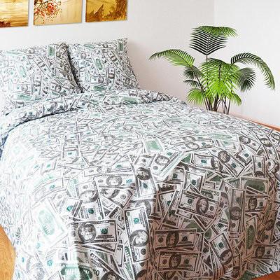 Полуторный комплект постельного белья «Доллары»