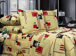 Полуторный комплект постельного белья «Иероглифы»