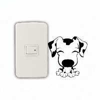 DSU Cute Puppy Switch Наклейка картон из винилв Виниловые наклейки для спальней детей 9.4 x 9 cм