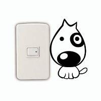 DSU Cute Dog Switch наклейка картон животные виниловые наклейки для стены для спальни детской комнаты 13.6 x 8.5 cм