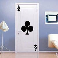 Игральные карты. Декор для дома для декора дверя Чёрный