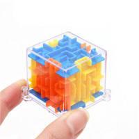 MINI 3D Maze Magic Cube Головоломка Скорость игры Лабиринт мяч образовательных игрушек Жёлтый