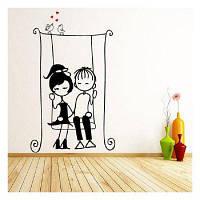 DSU Rocking Chair Swinging Lovers наклейки на стены для спальни DIY наклейки для украшения дома для свадьбы 100x166cм