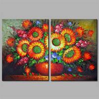 Hua Tuo A1703 Цветочный стиль Растянутая рама, готовая повесить размер 50 х 70 см 20 x 28 дюймов 50cм x 70cм)