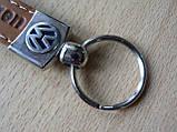 Брелок хлястик Volkswagen 110мм коричневый логотип эмблема Волксваген автомобильный на авто ключи , фото 5