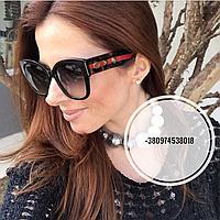 Солнцезащитные очки квадратные Gucci черные, фото 1