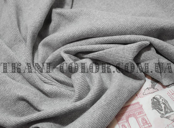 Трикотаж кашкорсе светло-серый меланж (пенье), фото 2