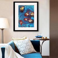 Специальная конструкция Каркас Картина План рыбной печати 20 x 14 дюймов (50cм x 35cм)