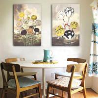 Специальный дизайн безрамных картин Свежий цветок Печать 2PCS 9 x 13 дюйма (24cм x 34cм)