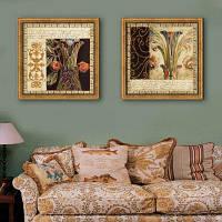 Каркасные Картины Специальная конструкция Западный шаблон печати 2шт 16 x 16 дюймов (40cм x 40cм)