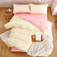 Новые товары Детские трехкомпонентные наборы из простых цветных листов постельного белья одиночный