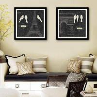 Каркасные картины Специальная Конструкция Arc DE Триумфальная арка Печать 2шт 16 x 16 дюймов (40cм x 40cм)