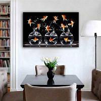 Специальная дизайнная рамка для картин Золотая Рыбка Печать 16 x 11 дюйм (40cм x 30cм)