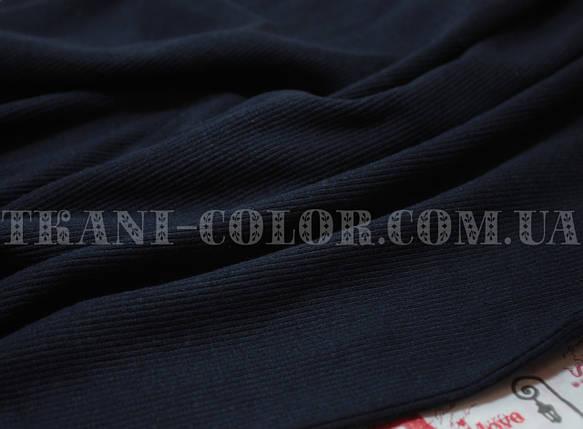 Трикотаж кашкорсе темно-синий (пенье), фото 2