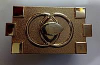Замок для ж.сумки цвет золото 34 х 63 мм.