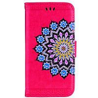 Datura Flowers Flip Phone Case Cover Дело Кошелек кожаный чехол Сумка для телефона с защитой стойки для iPhone 7/8 розово-красный