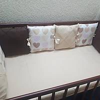 Бортики в кроватку на 3 стороны, фото 1