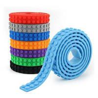 1.6 x 92cm Дети Взрослые DIY Строительные блоки Базовые точки Клей Пластиковая лента Базовая плита Липкая подложка Синий
