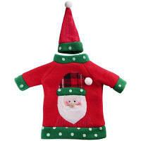 1шт Красная бутылка вина Крышка Новогодние товары Рождественская вечеринка Украшение Поставки Подарки Декор для дома Санта