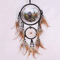 Ловец снов Домашнее украшение с перами Творческий Ручная работа подвеска Чёрный