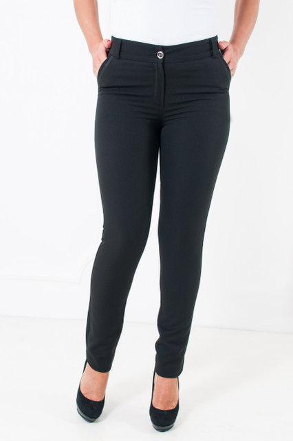 Офисные брюки  черные с зауженными штанинами Миранда