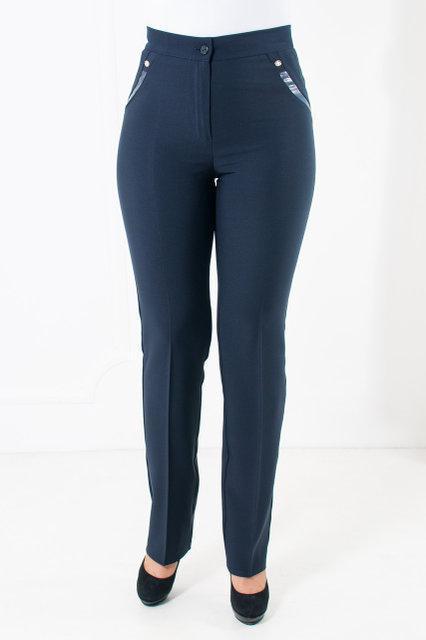 Офисные брюки демисезонные Зарина синего цвета