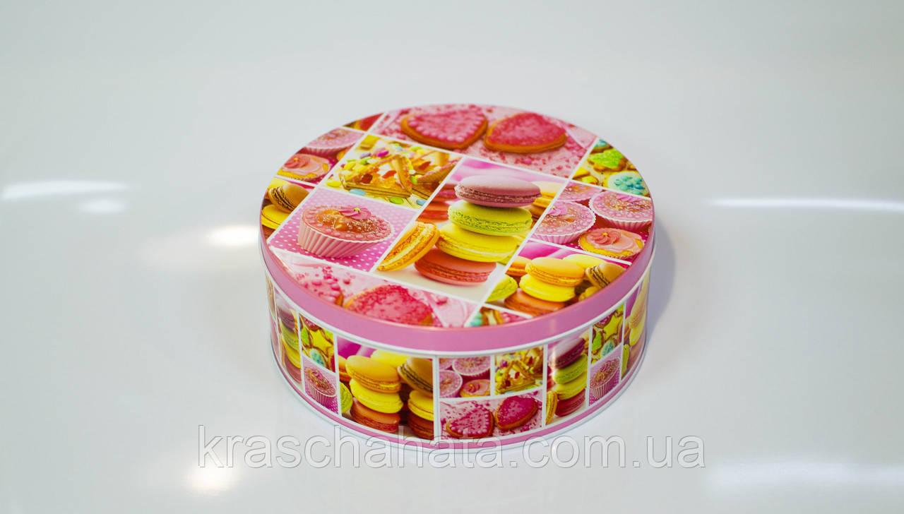 Коробка с крышкой из жести, 14,7х6,7 см, Печенье, Праздничная упаковка из жести, Днепр
