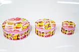 Коробка с крышкой из жести, 14,7х6,7 см, Печенье, Праздничная упаковка из жести, Днепр, фото 4