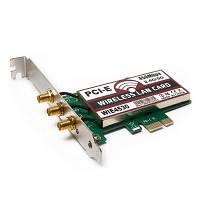 450 Мбит / с PCI-E Беспроводная сетевая карта для настольного компьютера Зелёный