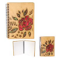 95401-05 Блокнот с гравировкой Цветы-Роза 145*180мм,50листов\линия