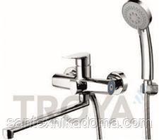 Смеситель для ванны длинный гусак TROYA FOB7-A134
