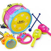 Дети раннее образование барабанная музыка образовательный инструмент сочетание 5 радость шерстистая талия барабан колокольчик труба ребенка